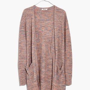 NWT Madewell Marled Ryder Cardigan Sweater - Pink